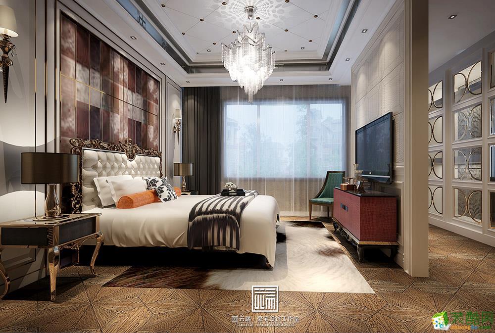 卧室 蓝光雍锦半岛欧式轻奢风格装修效果图 蓝光雍锦半岛欧式轻奢风格