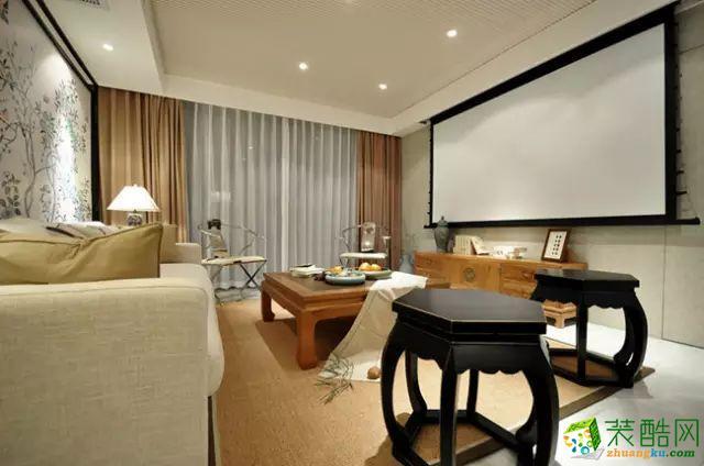 国韵村128平米中式风格两室两厅装修案例效果图赏析--馨居尚装饰