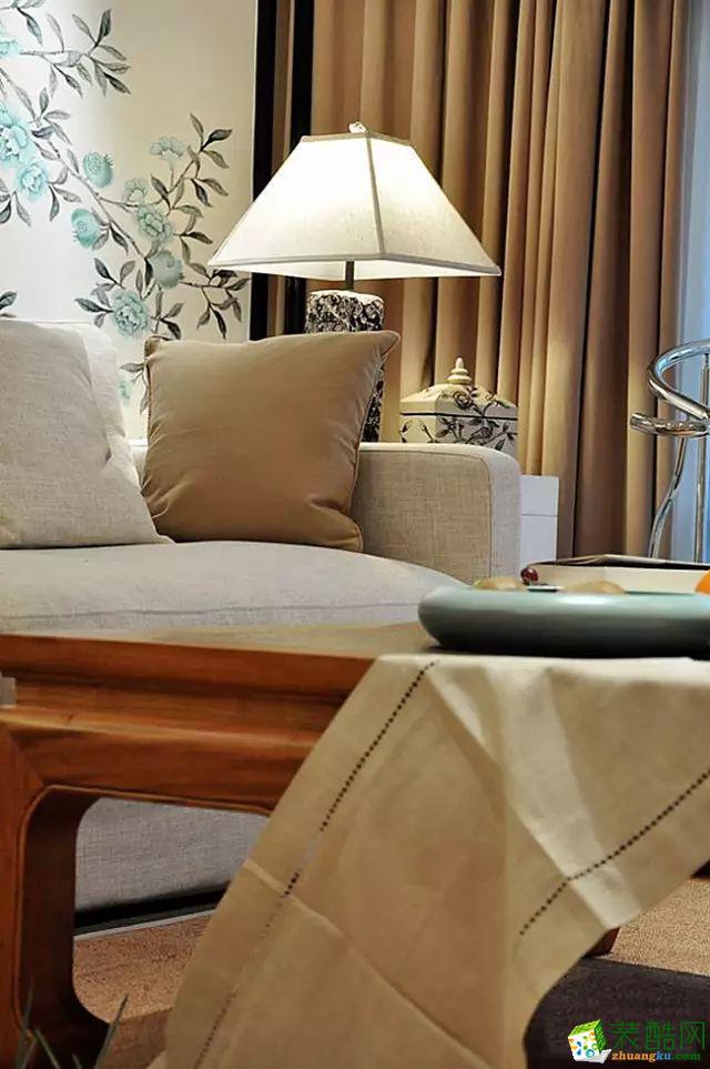客厅 国韵村128平米中式风格两室两厅装修案例效果图赏析--馨居尚装饰 国韵村