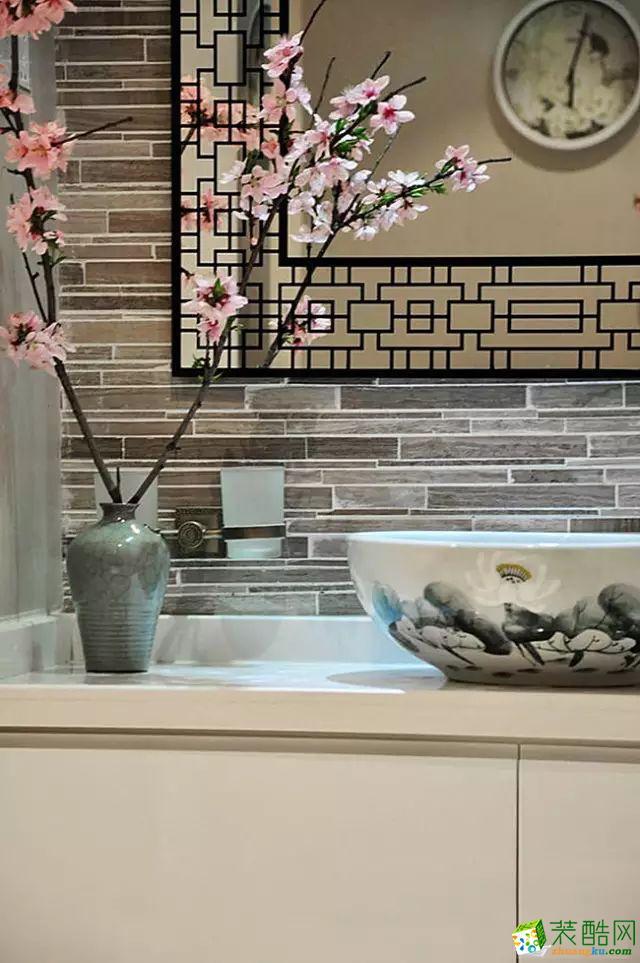 卫浴 国韵村128平米中式风格两室两厅装修案例效果图赏析--馨居尚装饰 国韵村