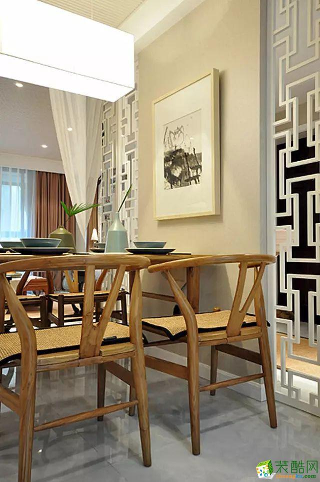 餐厅 国韵村128平米中式风格两室两厅装修案例效果图赏析--馨居尚装饰 国韵村