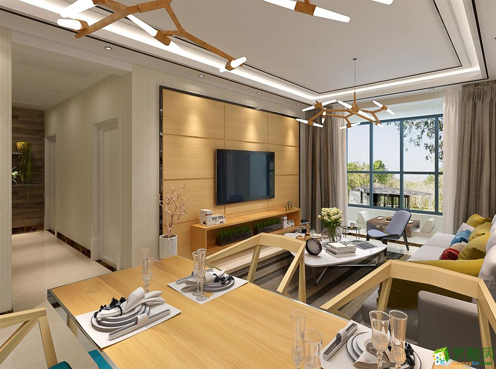 长沙大宅第装饰-110平米现代简约三居室装修案例