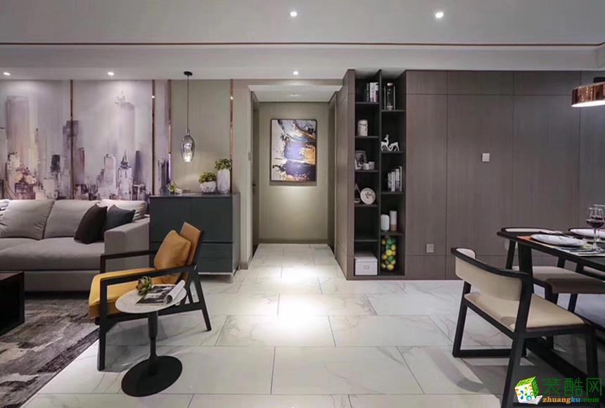 西安汇驰装饰-90平米现代简约两居室装修案例