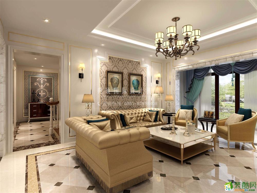 280平米法式风格别墅住宅装修案例效果图--典硕装饰