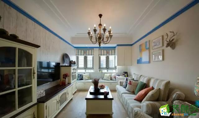 名星装饰作品―福星惠誉红桥城115平三室二厅地中海风格