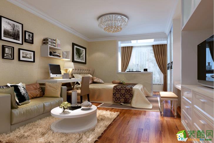 现代简约风格70平米两居室装修案例效果图--华浔品味装饰