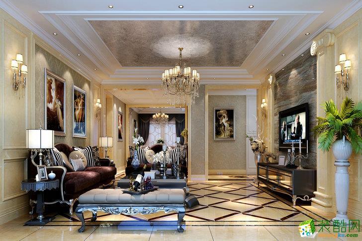 欧式风格别墅住宅260平米装修案例效果图--轻舟装饰