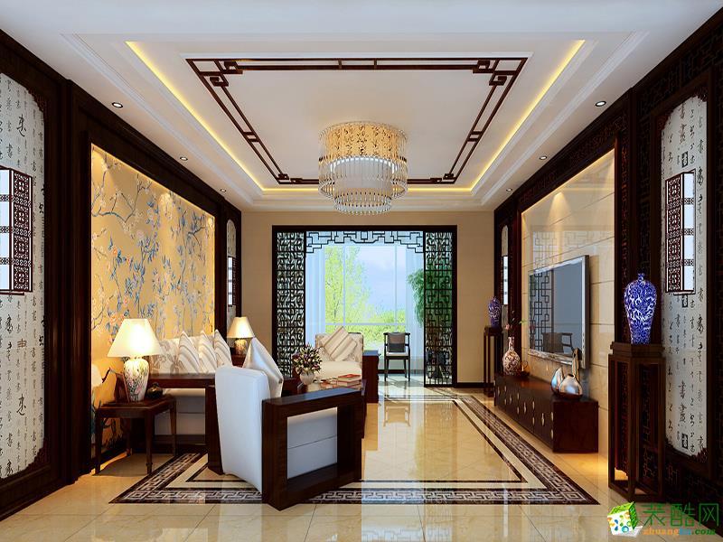 140平米中式风格三室两厅装修案例效果图--星艺装饰