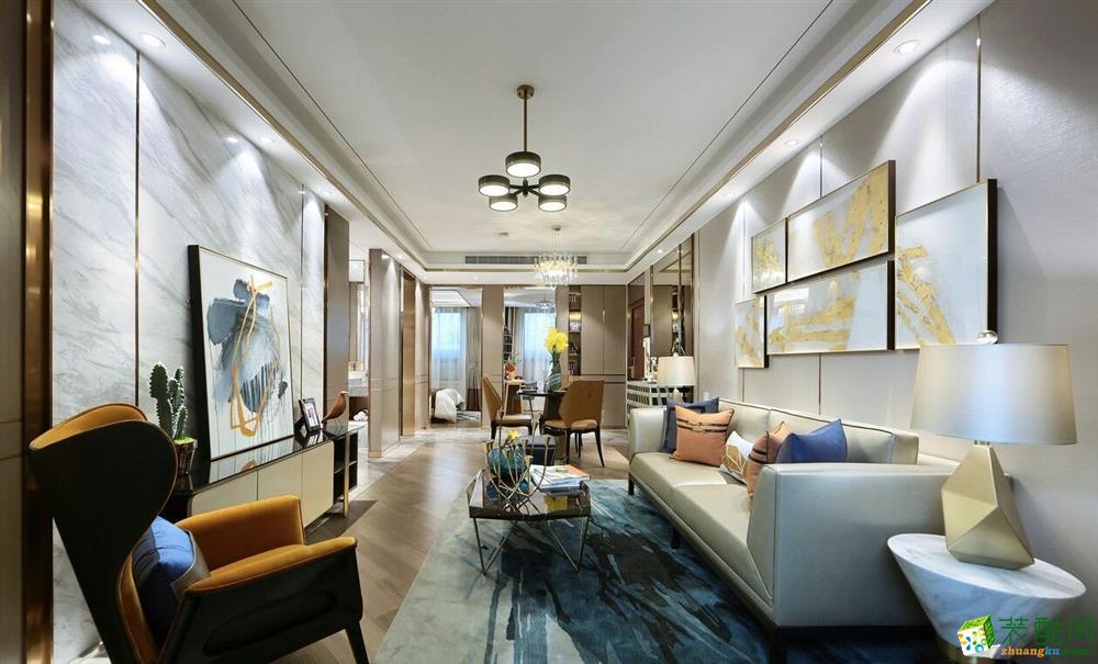武汉生活家装饰―泛海国际110方现代轻奢三室两厅