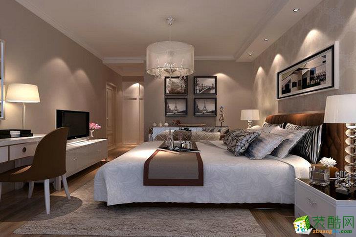 现代简约风格102平米三室一厅装修案例效果图赏析--贵阳名匠装饰
