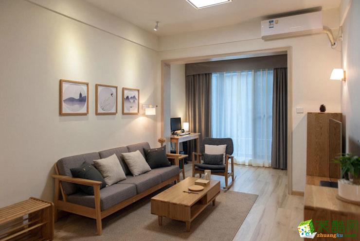 武汉千思装饰―80方日式风格两室一厅装修设计效果图