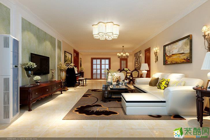 新中式风格158平米四室两厅装修案例效果图--中策装饰