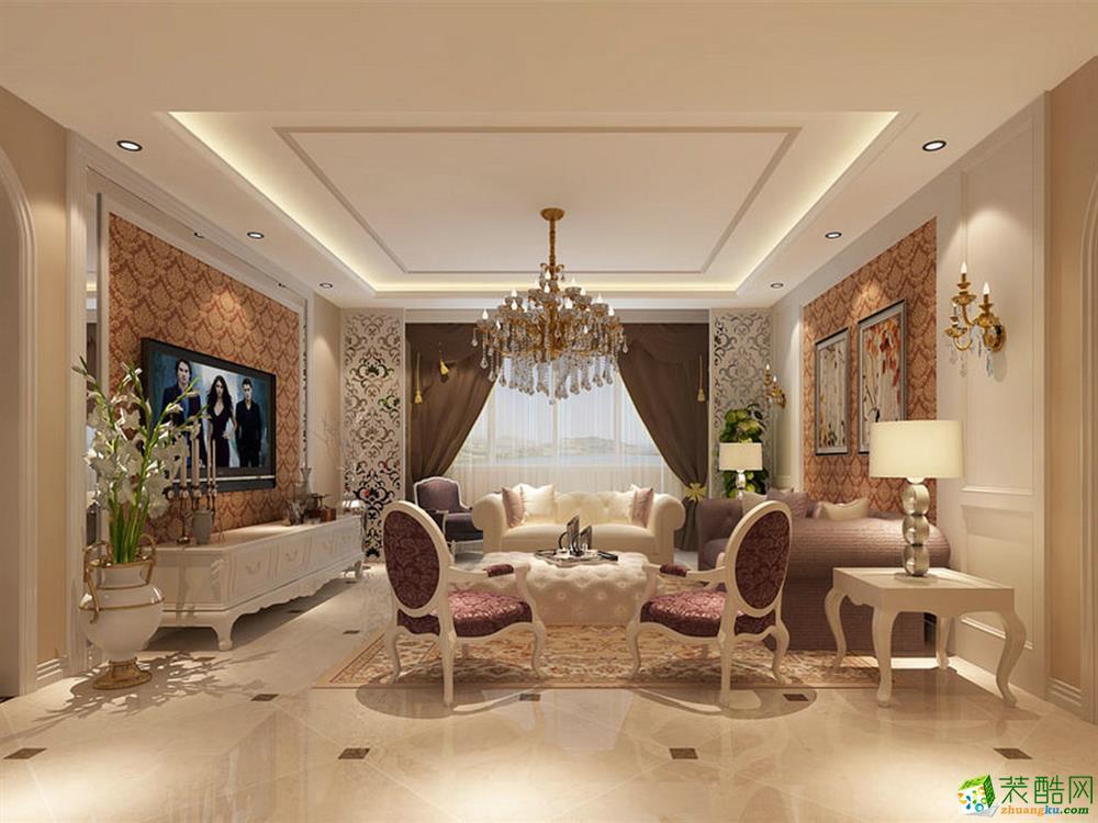 140平米欧式风格三室两厅装修案例效果图--超世装饰
