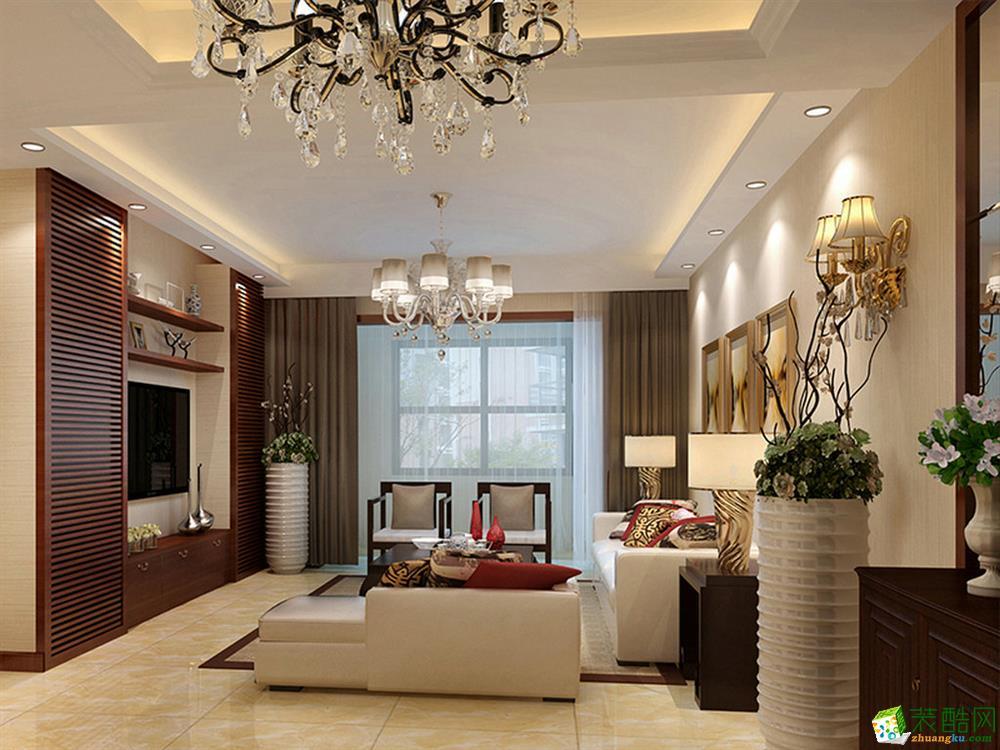 新中式风格140平米四室两厅装修案例效果图--品匠装饰