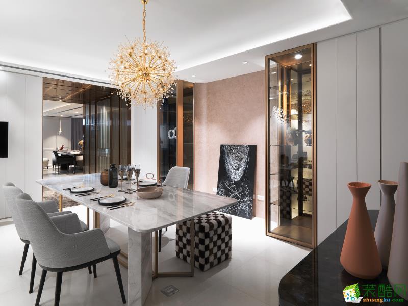 映江南装饰92平米现代风格三室一厅装修效果图