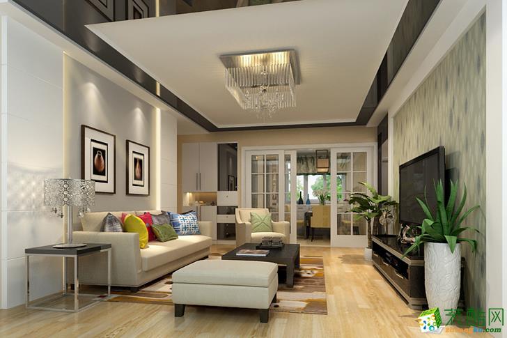 90平米三室一厅装修案例效果图--鑫佰利装饰