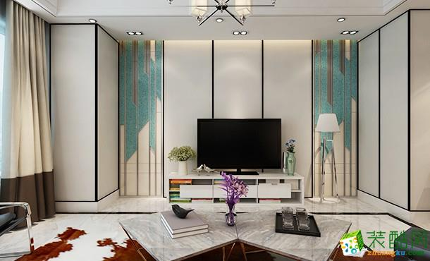 冷艳奢华与家的温馨,134平现代风家装案例