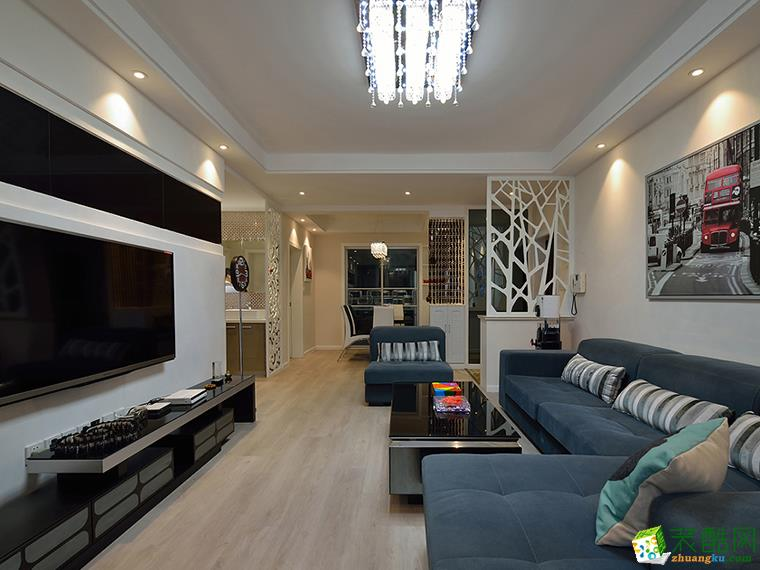>> 93平米三居室装修案例效果图--九艺装饰图片