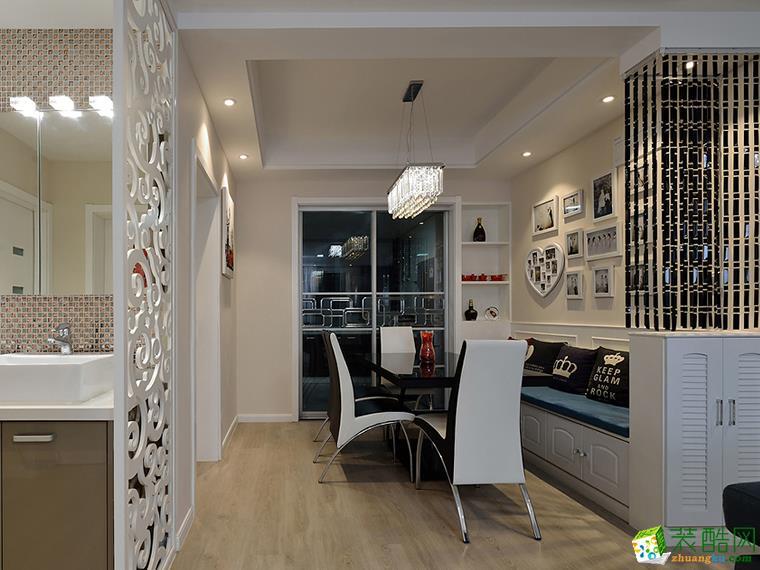 93平米三居室装修案例效果图--九艺装饰