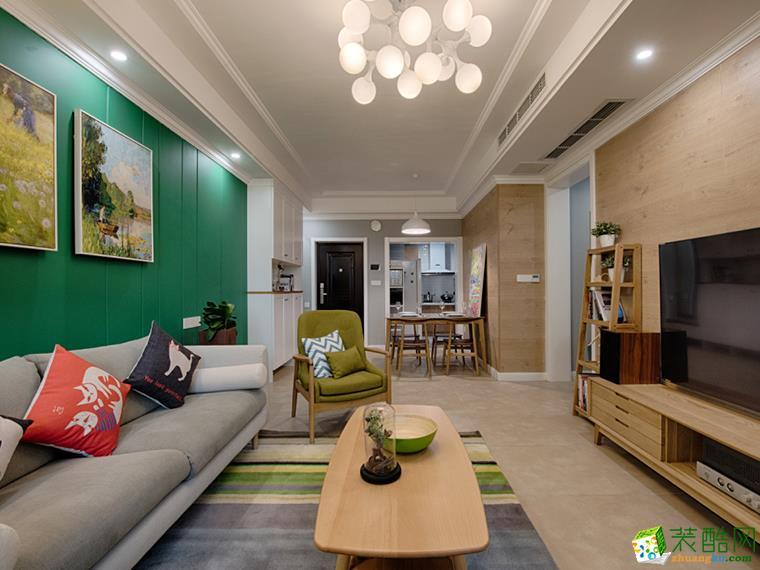 78平米北欧风格两室两厅装修案例效果图--华浔品味装饰