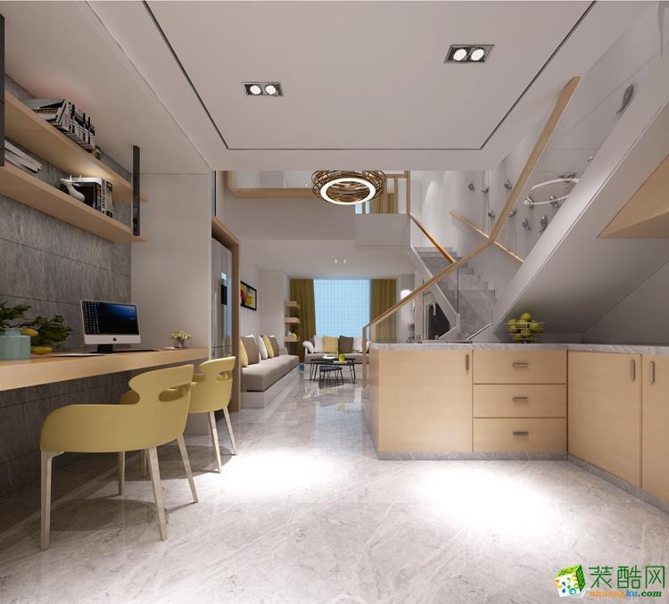 华浔品味装饰—泰富世界城220方跃层住宅装修效果图