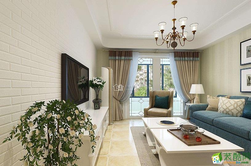 美式风格135平米三室两厅装修实景案例效果图--喜匠装饰