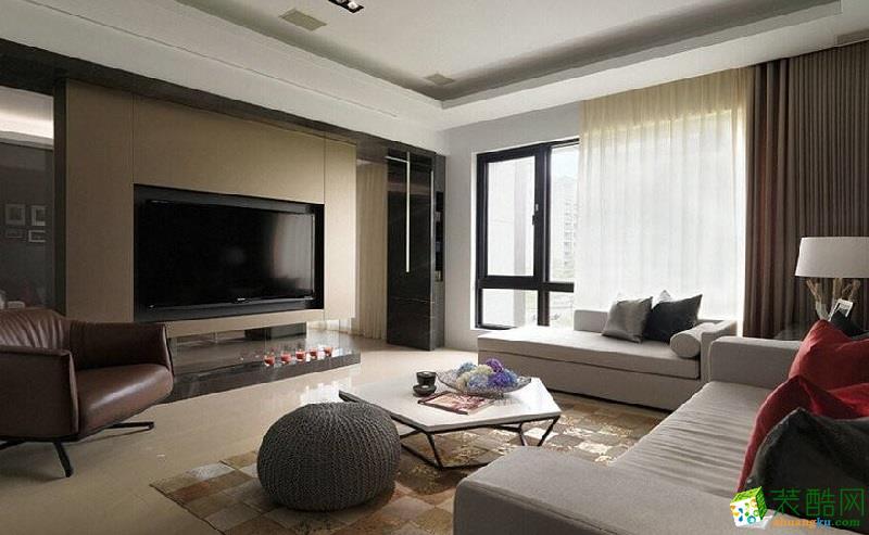 混搭风格86平米三室一厅装修案例效果图--轩辕装饰