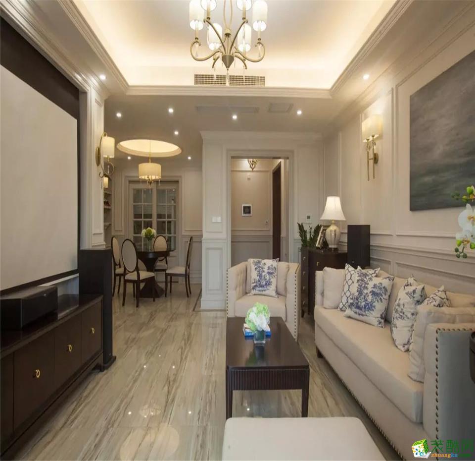 西安三只兔装饰-110平米欧式三居室装修案例