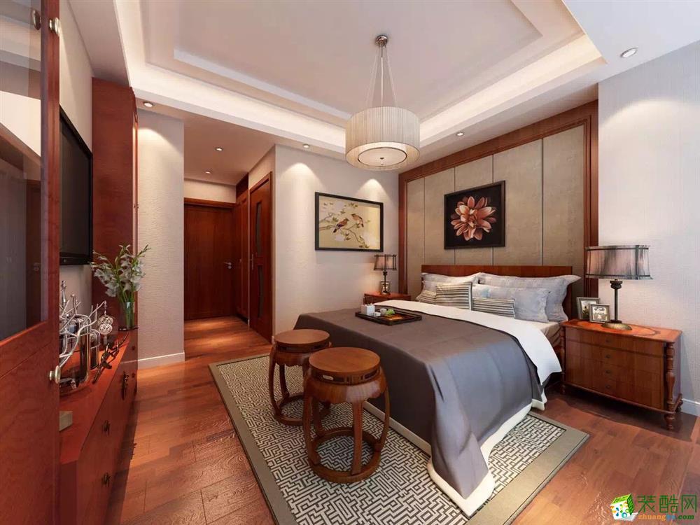 西安三只兔装饰-120平米中式三居室装修案例