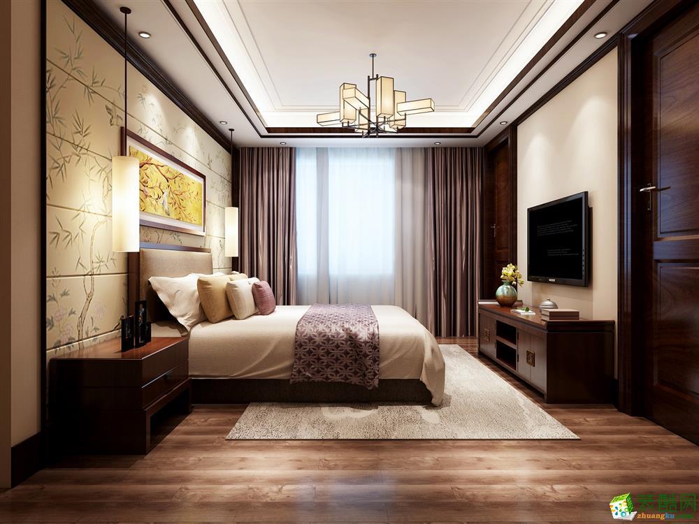 新中式风格200平米别墅大宅装修实景案例效果图赏析--重庆红玛瑙装饰