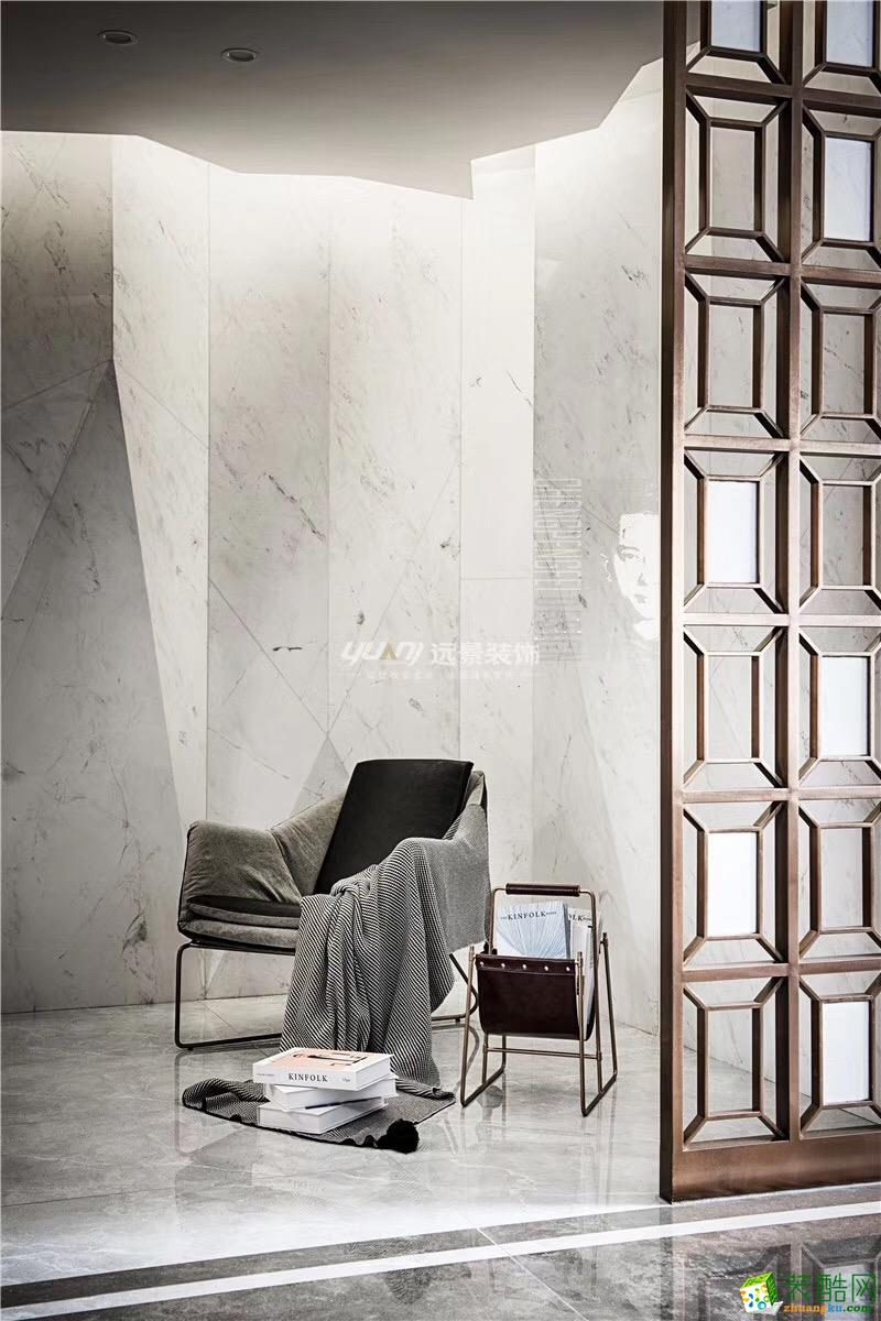 【重庆远景装饰】现代轻奢风格130平米时尚风格三室两厅装修案例效果图赏析。