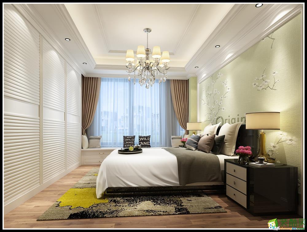简欧风格128平米三室两厅装修案例效果图赏析--重庆港宏装饰
