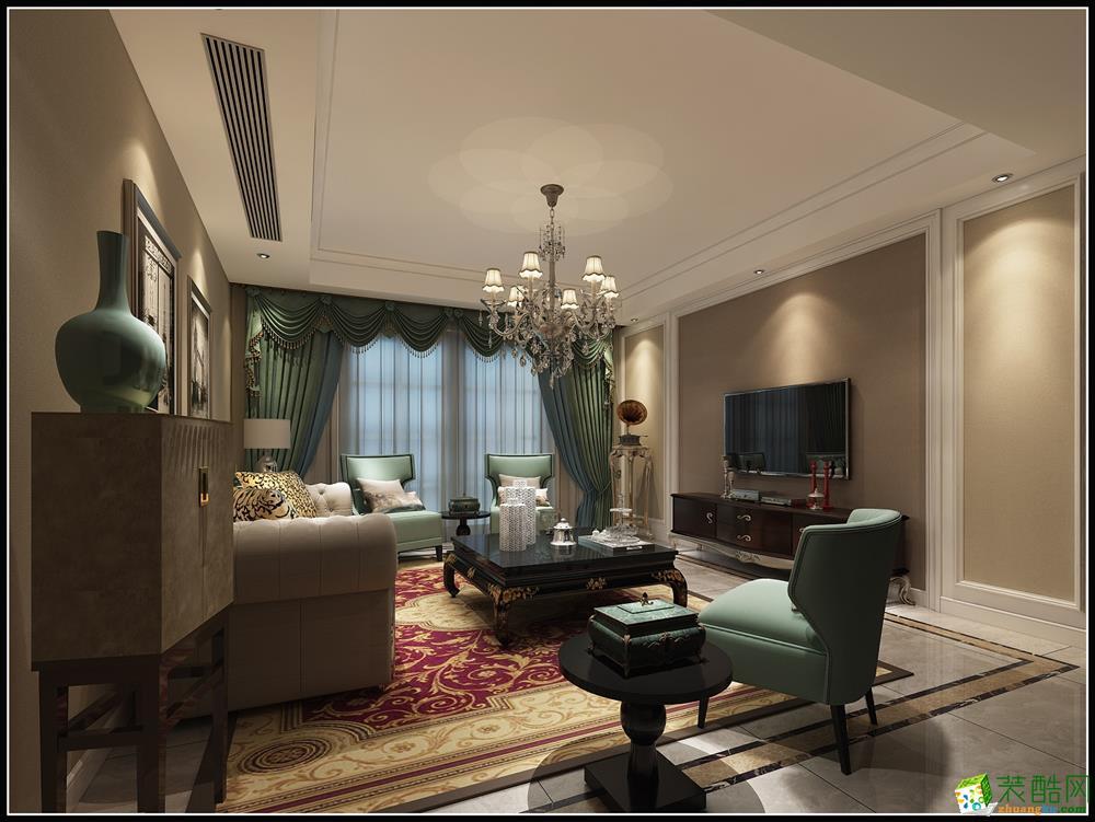 简欧风格260平米跃层住宅装修案例效果图--唯意装饰