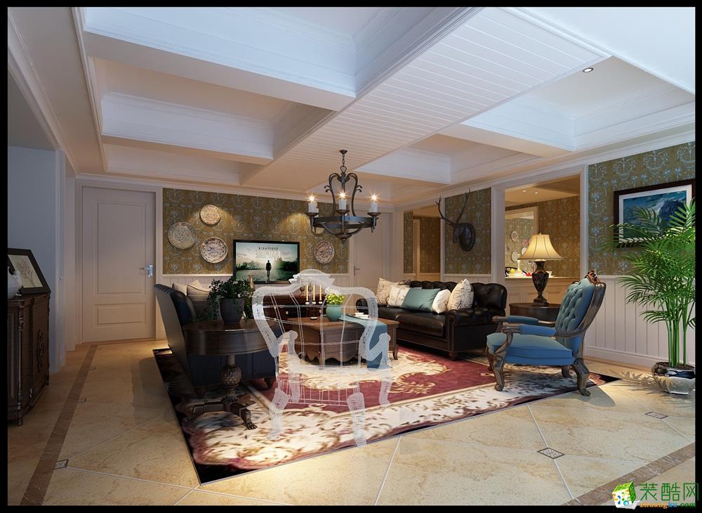 美式风格155平米三居室装修案例效果图--良美装饰