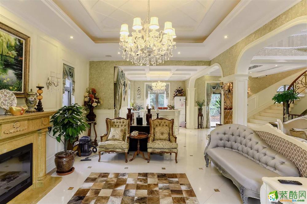 260平米欧式风格别墅住宅装修案例效果图--业之峰装饰