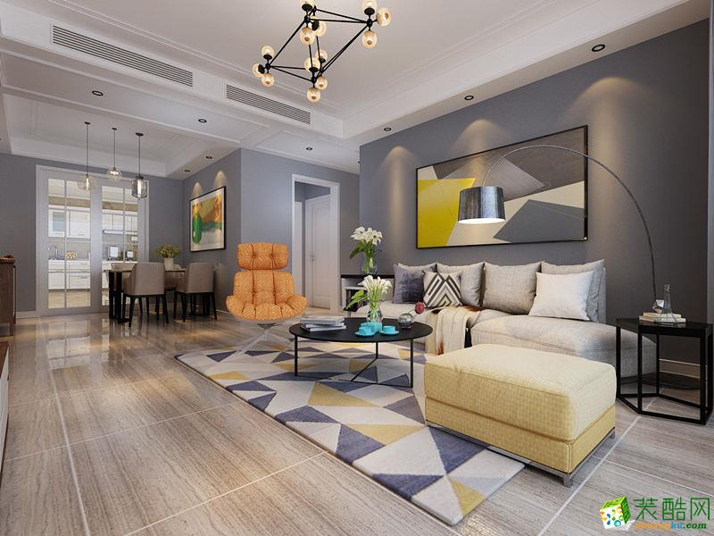 西安大唐一品装饰-100平米现代简约两居室装修案例