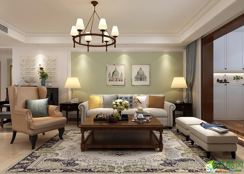 西安东宫装饰-130美式三居室装修案例