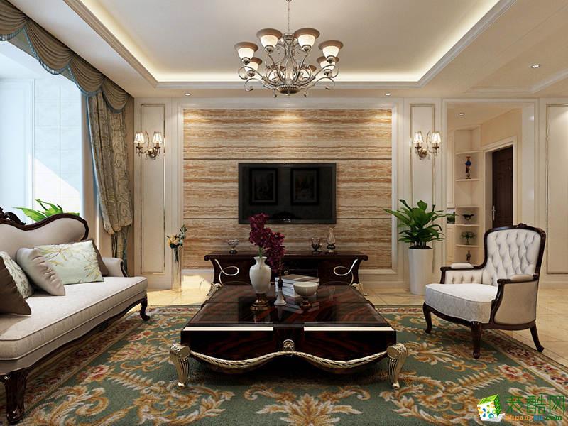 西安峰光无限装饰-130平米简欧三居室装修案例