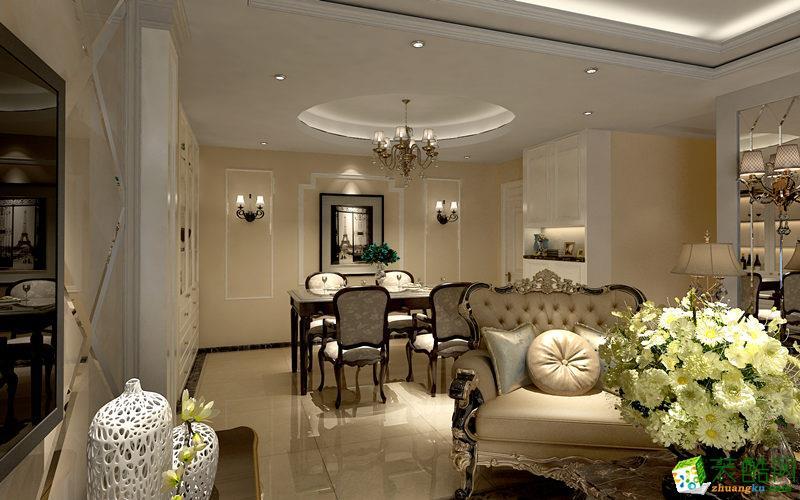 西安好百年装饰-130平米欧式三居室装修案例
