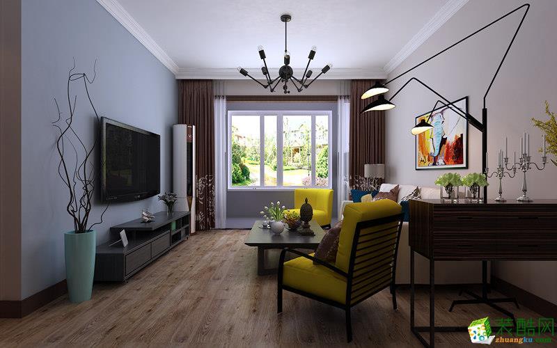 西安甲壳虫装饰-80平米北欧两居室装修案例
