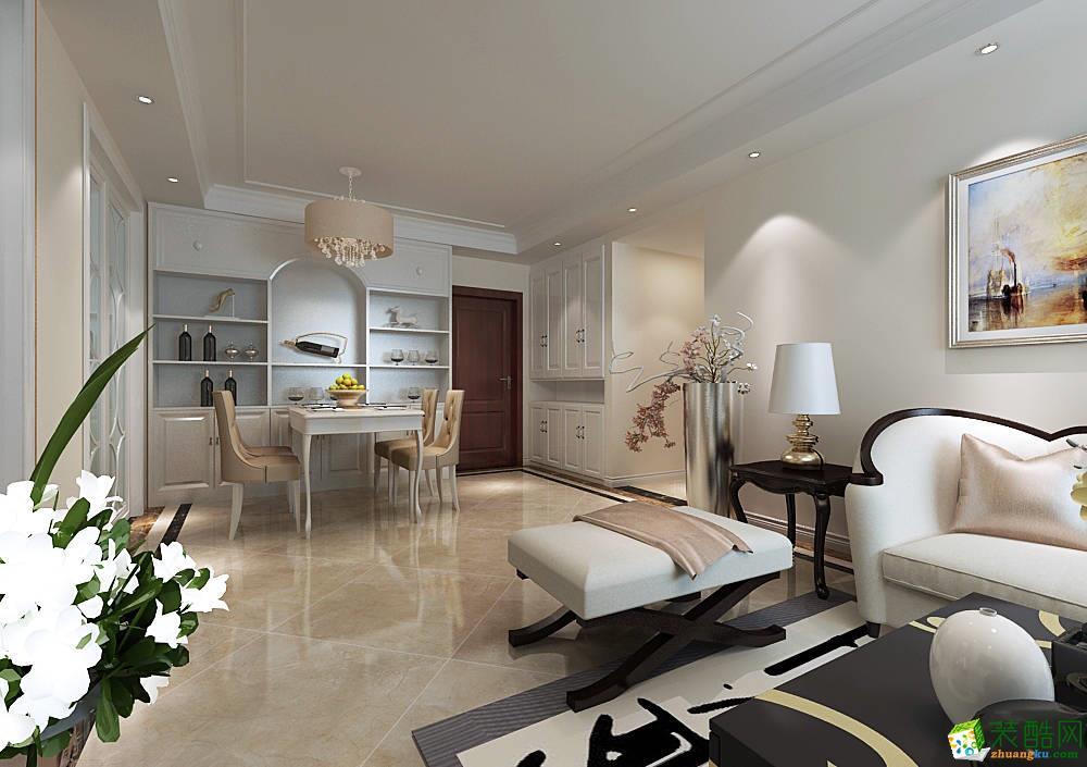 西安兴唐装饰-120平米简欧三居室装修案例