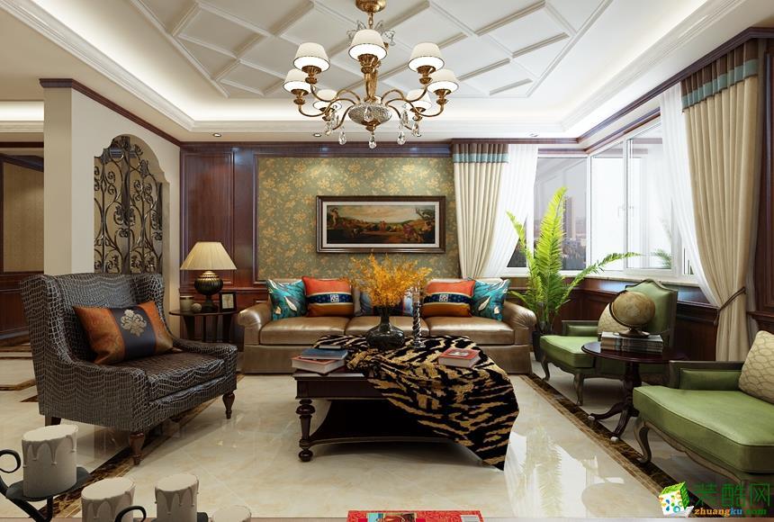 西安天地亿家装饰-150平米美式三居室装修案例