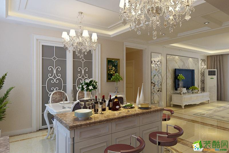 西安福尚装饰-130平米欧式三居室装修案例