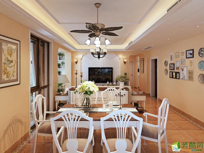 西安憬华装饰-90平米美式乡村两居室装修案例