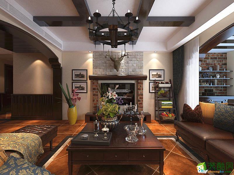 长沙天地和装饰-100平米田园两居室装修案例