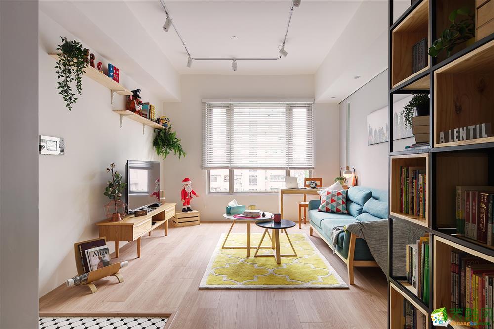 华宁装饰―86方北欧风格两室两厅装修效果图