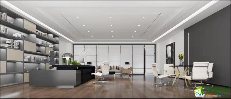 3500平办公大楼现代风装修效果图-200万_现代风格-办公室