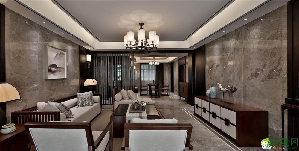 澳华装饰作品―莲花湖一号180方四室中式风格装修设计案例