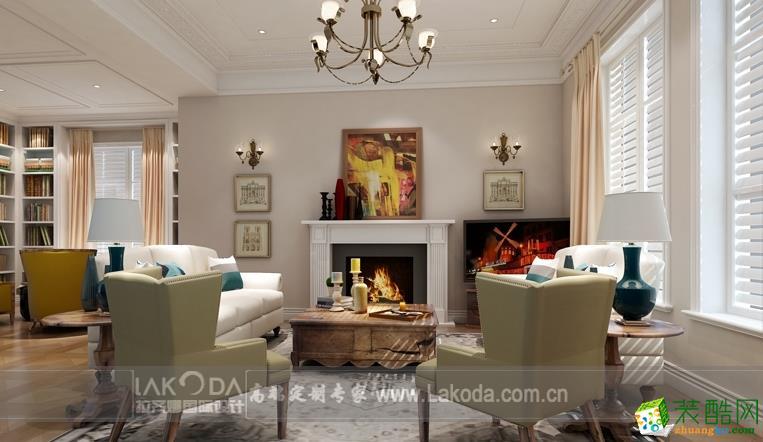 拉齐娜国际设计―中式风格独栋别墅装修设计效果图