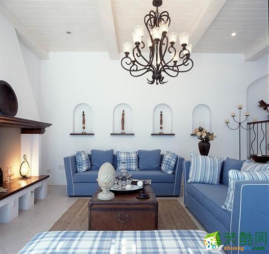 200平米地中海风格跃层住宅装修案例效果图--雅图装饰